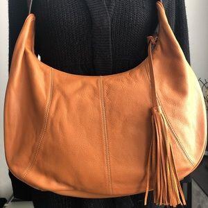 A.N.A. Caramel Leather Hobo Bag